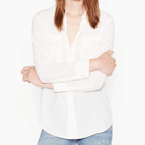 4e8cc6f17602 Equipment Tops | Slim Signature Silk Shirt Nature White | Poshmark